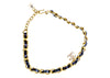 Chanel CC Logo Black Leather Choker - Designer Vault