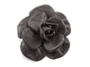 Chanel Leather Quilted Camellia Floral Brooch - Designer Vault - 1