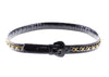 Chanel Vintage Black Patent Leather Chain Belt - Designer Vault - 1