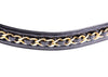 Chanel Vintage Black Patent Leather Chain Belt - Designer Vault - 4