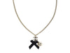 Chanel Silver Ball Ribbon Necklace - Designer Vault - 1