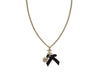Chanel Silver Ball Ribbon Necklace - Designer Vault - 3