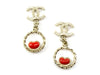 Chanel Heart Dangle Earrings - Designer Vault - 1