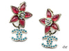 Rare Chanel Floral Earrings - Designer Vault - 1