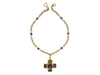 Chanel Vintage Purple Gripoix Cross Pendant Necklace - Designer Vault - 2