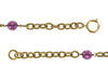 Chanel Vintage Purple Gripoix Cross Pendant Necklace - Designer Vault - 4