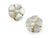 Chanel 01A White Camellia Earrings - Designer Vault