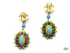 Chanel Vintage Gripoix Dangle Earrings - Designer Vault - 1