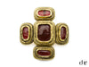 Chanel Vintage Red Glass Brooch - Designer Vault - 1
