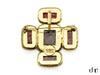 Chanel Vintage Red Glass Brooch - Designer Vault - 2