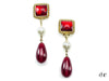 Chanel Vintage Red Gripoix Pearl Clip On Earrings - Designer Vault - 1