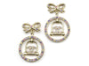 Chanel Rhinestone Bird Cage Earrings - Designer Vault - 1