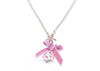 Chanel Pink CC Logo Ribbon Pearl Necklace - Designer Vault - 1