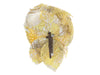Chanel Yellow Tweed Flower Brooch - Designer Vault - 2