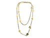 Chanel Leather Gold Charms Motif Necklace - Designer Vault - 2