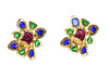 Chanel Multi-Color Gripoix Vintage Earrings - Designer Vault - 3