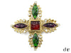 Chanel Vintage Poured Glass Intricate Crystal Brooch - Designer Vault - 1