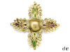 Chanel Vintage Poured Glass Intricate Crystal Brooch - Designer Vault - 2