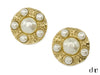 Chanel Vintage Gold Multi Pearl Clip On Earrings - Designer Vault - 1
