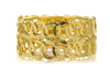 Chanel Vintage Gold CC Logo Interlocking Cuff - Designer Vault - 3