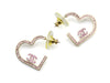 Chanel Pink Heart Earrings - Designer Vault - 1