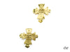 Chanel Vintage Gold Cross Earrings - Designer Vault - 1