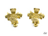 Chanel Vintage Gold Cross Earrings - Designer Vault - 2