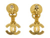 Chanel Vintage Gold CC Pearl Earrings - Designer Vault - 2