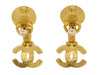 Chanel Vintage Gold CC Pearl Earrings - Designer Vault - 3