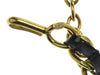 Chanel Vintage Leather & Gold Necklace - Designer Vault - 5