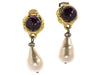 Chanel Vintage Red Gripoix Pearl Teardrop Earrings - Designer Vault - 1
