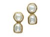 Chanel Early Vintage Pearl Drop Earrings - Designer Vault - 1