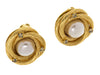 Chanel Faux Pearl Button Earrings - Designer Vault
