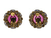 Chanel Vintage Pink Gripoix Glass Earrings - Designer Vault - 2