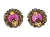Chanel Vintage Pink Gripoix Glass Earrings - Designer Vault - 3