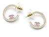 Chanel Pink Swarovski Hoop Earrings - Designer Vault - 1