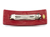 Chanel Red Leather CC Logo Hair Clip - Designer Vault - 2