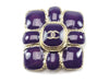 Chanel Purple Enamel Brooch - Designer Vault - 1