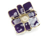 Chanel Purple Enamel Brooch - Designer Vault - 2