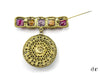 Chanel Vintage Poured Glass Bar Pendant Brooch - Designer Vault - 2