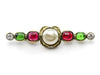 Chanel Poured Glass & Pearl Brooch - Designer Vault - 1