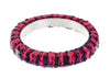 Chanel Red Blue Tweed CC Logo Bangle - Designer Vault - 2