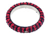 Chanel Red Blue Tweed CC Logo Bangle - Designer Vault - 4