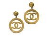 Chanel Vintage Oversized CC Logo Earrings - Designer Vault - 1