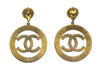 Chanel Vintage Oversized CC Logo Earrings - Designer Vault - 2
