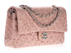 Chanel Pink Ostrich Medium Double Flap Bag - Designer Vault - 2