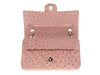 Chanel Pink Ostrich Medium Double Flap Bag - Designer Vault - 7