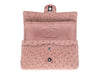 Chanel Pink Ostrich Medium Double Flap Bag - Designer Vault - 8