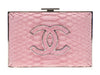 Chanel Python Embossed Velvet Box Clutch - Designer Vault - 1