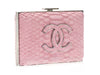 Chanel Python Embossed Velvet Box Clutch - Designer Vault - 2